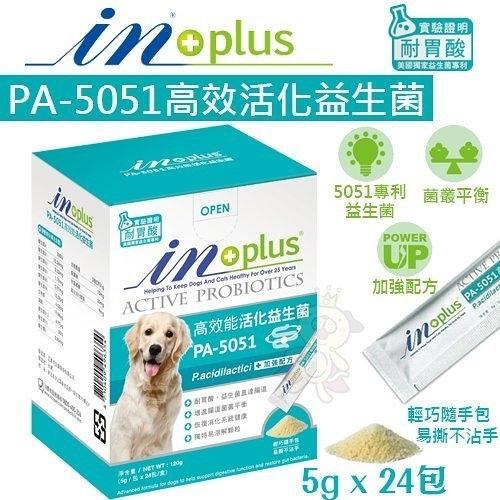 IN-PLUS PA-5051高效活化益生菌5gx 24包.腸胃保健.獨特易溶解顆粒.犬用營養品