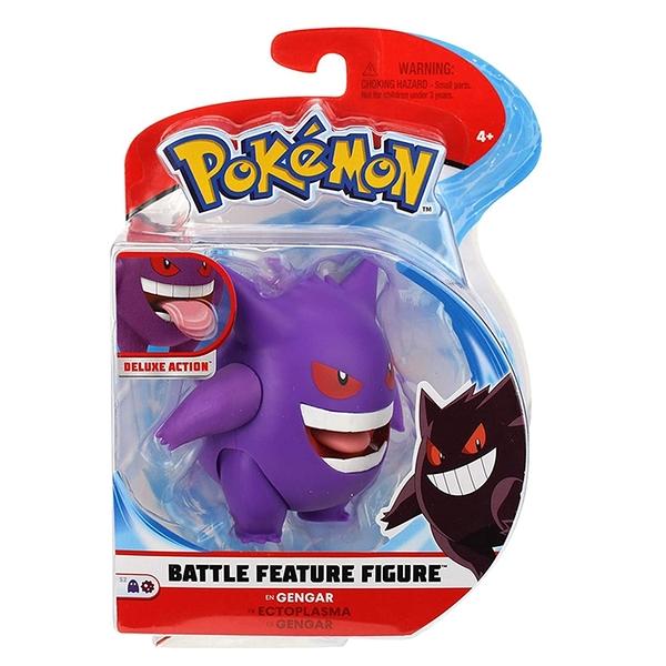 [9美國直購] Pokemon 精靈寶可夢 戰鬥人物公仔 4.5 Battle Feature Figure - Gengar