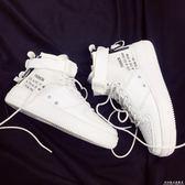 夏季新款透氣高幫嘻哈街舞鞋潮流滑板鞋男女情侶運動鞋小白鞋 科炫數位旗艦店