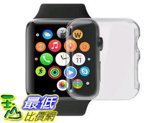 [105美國直購] 保護套 Apple Watch Case LUVVITT Super Easy Built-in Screen Protector Snap-On Case Hard B011E1I8P2