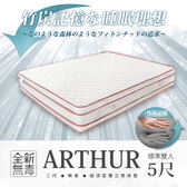 經濟型環保無毒系列-ARTHUR亞瑟竹炭記憶四線高獨立筒床墊-雙人5x6.2尺(28cm) - H&D DESIGN