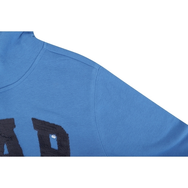Gap 男童 Logo棉質舒適縮口連帽上衣 554446-航太藍