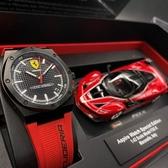 星晴錶業-FERRARI法拉利男女通用錶,編號FE00002,42mm黑錶殼,紅錶帶款