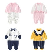 長袖嬰兒兔裝 純棉連身裝 假兩件寶寶童裝 LW4482 好娃娃
