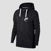 Nike Sportswear Hoodie [883730-010] 女款 運動 健身 全長 拉鍊 連帽 外套 灰黑