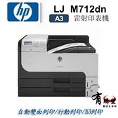【有購豐】HP 惠普 LaserJet Enterprise 700 M712dn A3黑白雙面網路雷射印表機(CF236A)