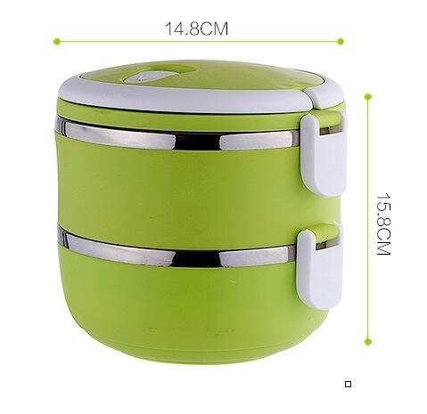 不銹鋼飯盒分格便當盒學生餐盒可愛雙層二層多層日式保溫桶 奇幻樂園
