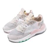 adidas 復古慢跑鞋 Nite Jogger W 灰 粉紅 Boost 中底 女鞋 休閒鞋 運動鞋 【PUMP306】 EF8721