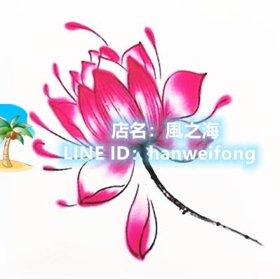 66張紋身貼防水女持久韓國小清新花朵鎖骨腳踝腹部遮疤手臂仿真刺青紋身貼紙【風之海】