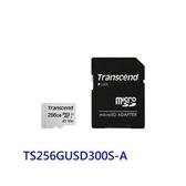 新風尚潮流 創見 記憶卡 【TS256GUSD300S-2】 256GB Micro-SD 含 Mini-SD 轉卡套件