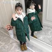 女童棉衣 女童棉衣冬季羽絨棉外套中長款加厚保暖休閒女孩棉服棉襖 繽紛創意家居