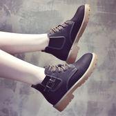 馬丁靴女秋季新款百搭韓版短筒單靴高筒皮鞋冬學生瘦瘦短棉靴
