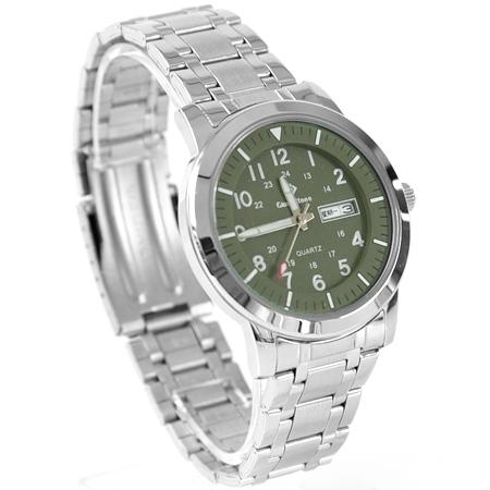 手錶 型男軍用雙圈數字墨綠不鏽鋼腕錶 搭戴SEIKO精工VX43石英機芯 柒彩年代【NE1812】30米防水