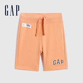 Gap男幼童 Logo寬鬆運動短褲 808227-橙色