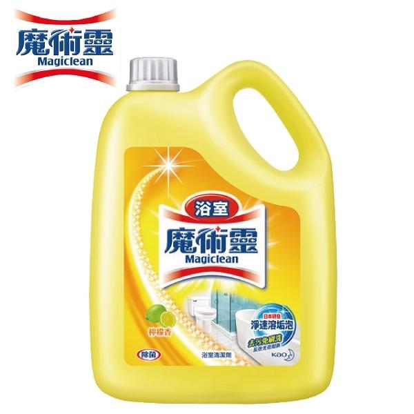 【南紡購物中心】【魔術靈】魔術靈  浴室清潔劑 桶裝 檸檬香 3800ml/3瓶/組  團購 箱購