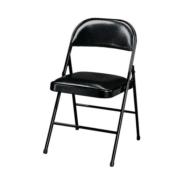 【森可家居】黑色橋牌椅 8SB368-11 商用 餐廳