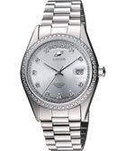 ENICAR 英納格 自動恆動晶鑽機械腕錶-銀 3169-50-39aI
