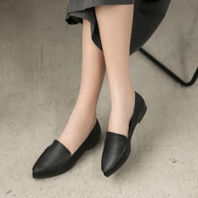 包鞋.俐落風格尖頭平底包鞋-FM時尚美鞋-訂製款.Delight