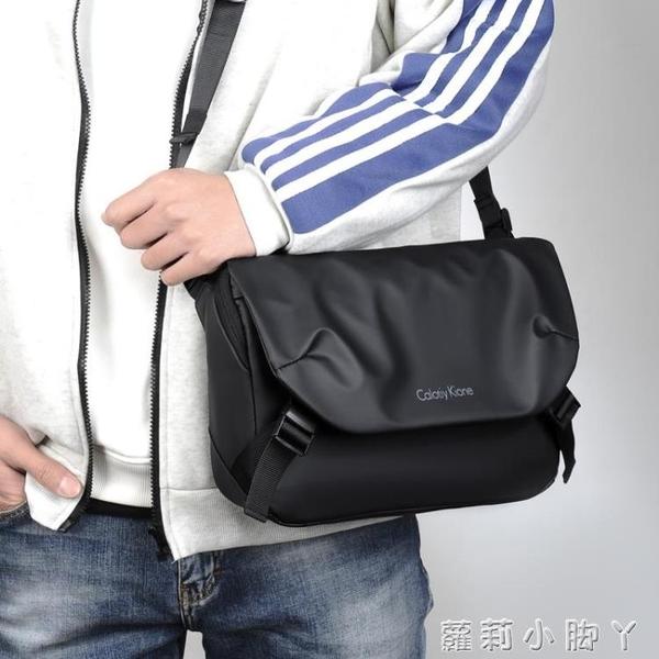 2021新款騎行單肩包男士包包潮牌斜挎包休閒郵差包工裝小挎包背包 蘿莉新品