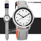 HyperGrand  / BW02SILHAL / HIDE x SEEK 飛行員2.0版魔鬼氈徽章反光面料真皮手錶 銀x銀灰 40mm