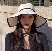 漁夫帽 夏季漁夫帽時尚大帽檐女百搭防曬可愛紫外線遮陽韓版潮網紅太陽帽