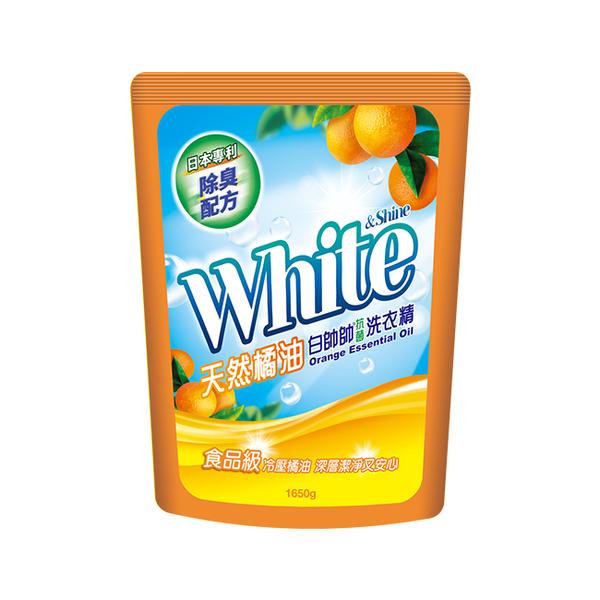 白帥帥天然橘油抗菌洗衣精補充包1650g