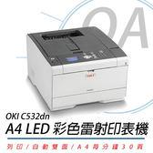 OKI 雷射黑白高速印表機C532dn / 適用 耗材46484109~46484112