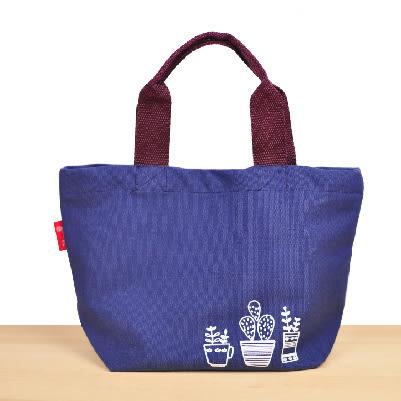 禾風漾藍帆布 便當袋|帆布小提袋 帆布袋 手提袋 收納袋 購物袋【mocodo魔法豆】