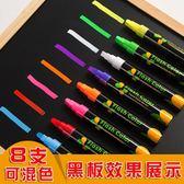 熒光板專用筆 記號筆閃光彩色筆POP筆 發光黑板筆水性可擦熒光筆