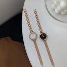 手錶女簡約氣質ins風學生小金錶鏈條小巧防水法國小眾輕奢石英錶 韓國時尚週