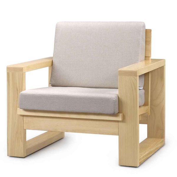 【藝匠】大雪山檜木單人沙發椅 實木沙發 原木 客廳 沙發椅(不含坐墊)