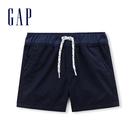 Gap男嬰兒 純棉斜紋布鬆緊腰短褲 230306-海軍藍色