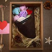 七夕情人節禮物 創意生日禮物 玫瑰香皂花束禮盒