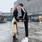 秋季新款roora法式情侶裝套裝一裙一衣女小眾設計感網紅店潮 【快速出貨】