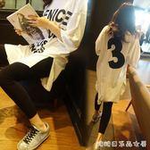 韓版夏裝寬鬆大碼胖MM白色顯瘦 短袖純棉中長款竹節棉t恤女裙 糖糖日系森女屋