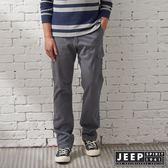 【JEEP】經典復古刷色洗舊口袋長褲 (灰)