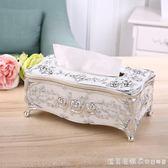 紙巾盒歐式客廳創意抽紙盒奢華家用紙抽盒KTV茶幾簡約可愛餐巾盒 igo漾美眉韓衣