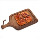 披薩盤 木質披薩盤家用餐具創意長方形歐式實木盤子面包西餐牛排托盤ATF 米希美衣
