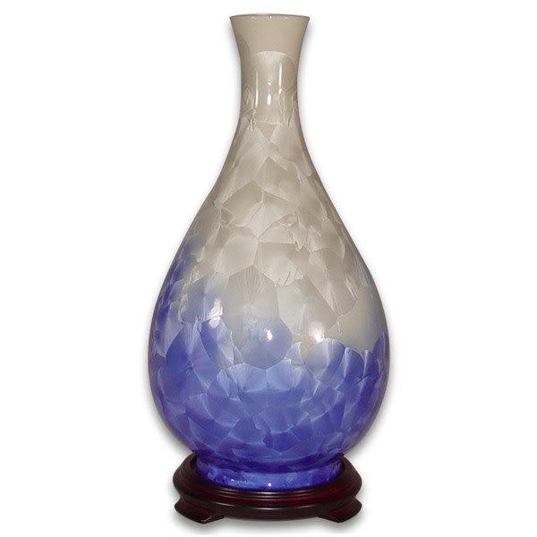 鹿港窯~居家開運結晶釉花瓶~13.8英吋膽瓶;購物清單:1件