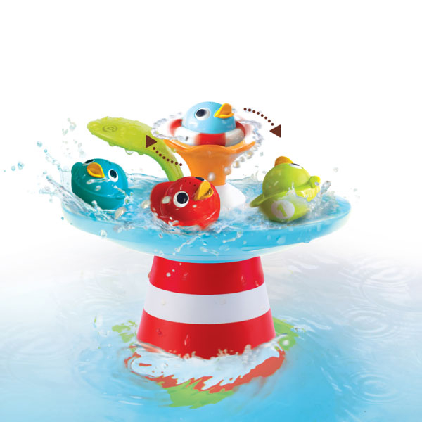 以色列 Yookidoo 戲水玩具-魔法小鴨噴泉/洗澡玩具