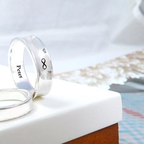 極簡內弧凹面戒 男款-訂製戒指 刻字 純銀戒指(單只)
