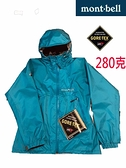 Mont-bell 日本品牌 GORE-TEX 單件式 防風防水外套 (1128449 TQ 松石藍) 買就贈防水噴劑一瓶