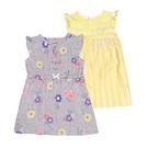 女寶寶洋裝套裝三件組 蝴蝶袖洋裝(2入)+內褲 黃條紋   Carter s卡特童裝 (嬰幼兒/兒童/小孩)