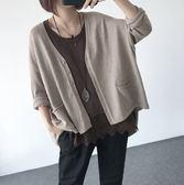 針織外套-peace衣著館-寬鬆連袖針織外套,五色