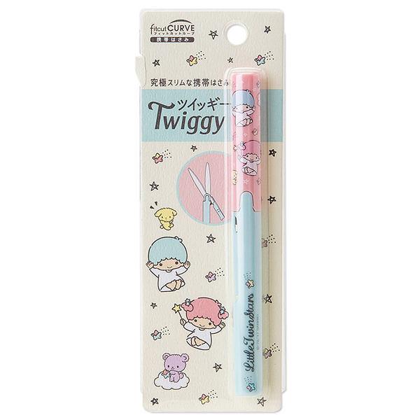 【震撼精品百貨】Little Twin Stars KiKi&LaLa 雙子星小天使~PLUS Twiggy極細攜帶式筆型剪刀(手繪流星)