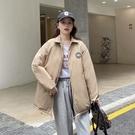 外套 棉外套 羽絨服 長袖上衣小個子學生加厚棉服女復古港風學院風外套MA124 胖丫