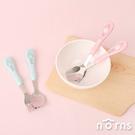 角落生物不鏽鋼安全餐具- Norns 角落小夥伴正版授權 兒童餐具 防滑把柄 湯匙叉子