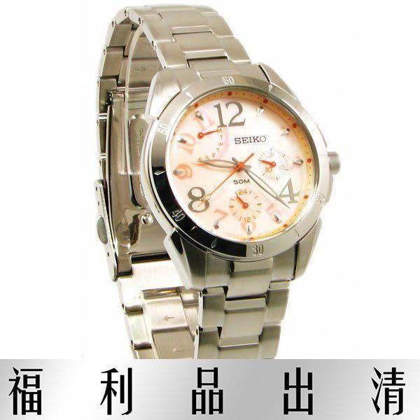 【台南 時代鐘錶 SEIKO】精工 Criteria 星期逆跳女錶 SPA829J1@5Y67-0AN0O