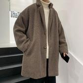冬季羊羔絨外套男休閒百搭寬鬆棉服bf中長款加厚加絨棉衣韓版潮流 moon衣櫥