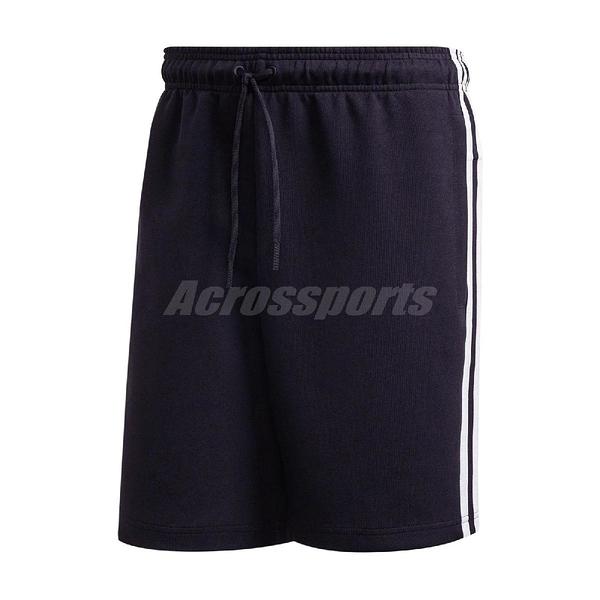 adidas 短褲 Must Haves 3-Stripes Shorts 黑 白 男款 運動褲 慢跑褲 素面 運動休閒 【ACS】 FT2954
